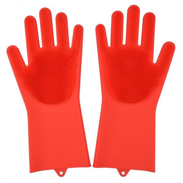 Gants OLMA Multifonctionnel 2 en 1-Couleur-Rouge